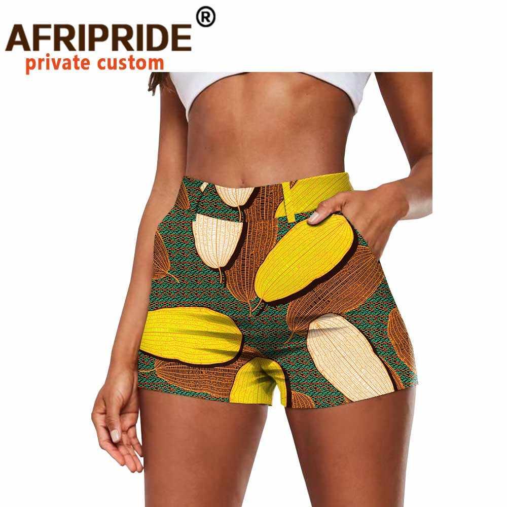 Afrika baskı şort yaz moda Casual seksi kısa pamuk artı boyutu Slim Fit yüksek bel Ankara Dashiki AFRIPRIDE A2021002