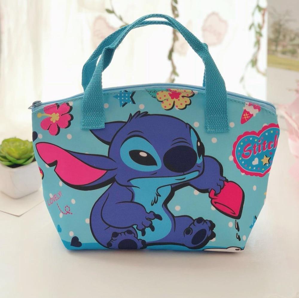 Disney Cartoon Frozen Children Lunch BagS Student Elsa Waterproof Package Girl Boy Kid Portable Bag Storage Handbag Princess