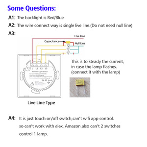 Image 5 - Spedizione Gratuita Standard UE 1 2 3 Gang 1 Way Parete Luce Controler Home Automation Interruttore di Tocco Non Wif A Distanza interruttore sul Pannello In Vetro