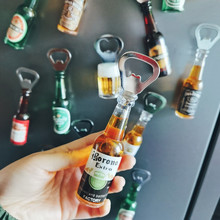 Retro Creative Beer Bottle Opener Personalized Bar Mini Drink Shape Bottle Opener Refrigerator Magnet Home Decoration