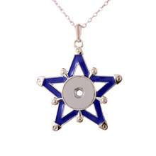 Boom Life Snap Jewelry Crystal Star Snap Button Necklace for Women Fit 18mm 20mm Snap Buttons Jewelry Snaps Necklaces
