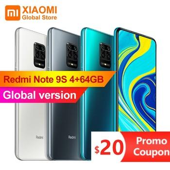 "Xiaomi Redmi Note 9S 4GB 64GB Global Version Mobile Phone Snapdragon 720G Octa Core 5020mAh 48MP Cam Note 9 S Smartphone 6.67"" 1"