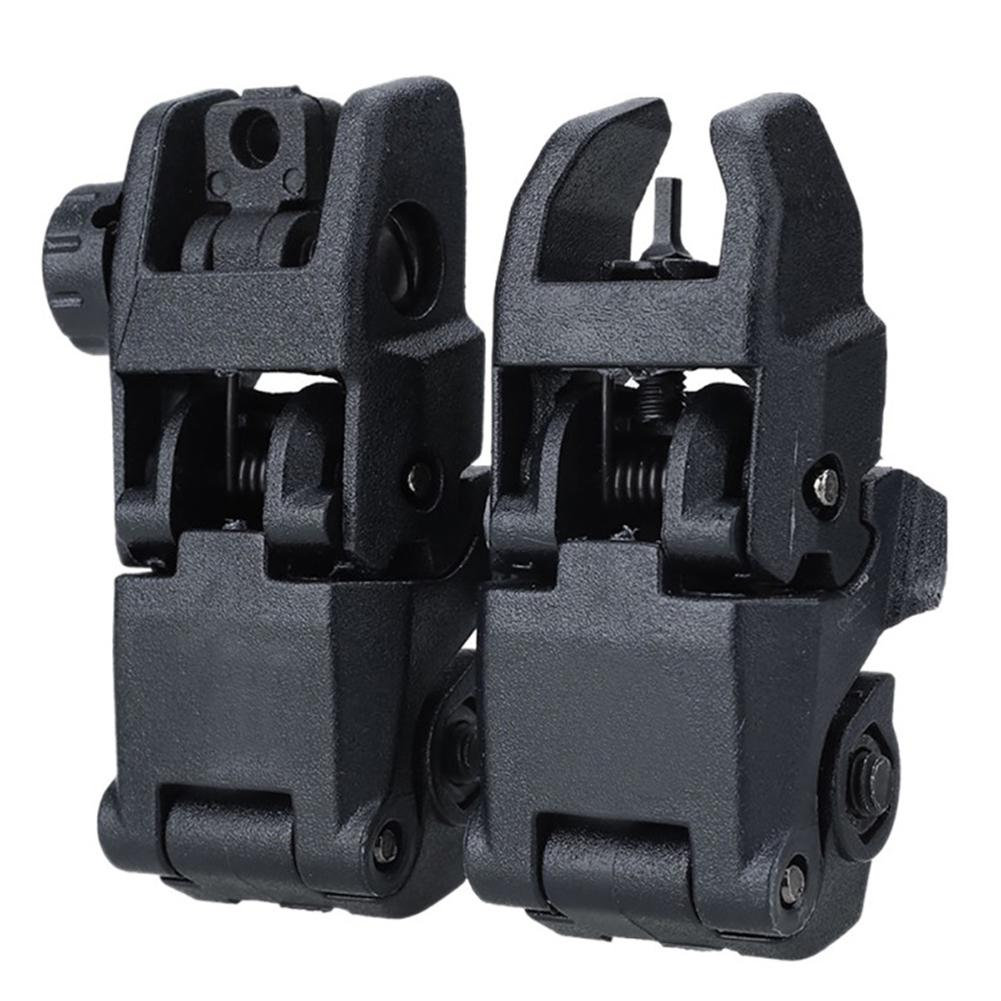 2pcs/lot Tactical Military Arms Gear GEN 1 Front And Rear Back Up Sight Set Black AR 15 AR15 Offset Backup Rapid Transition BUIS(China)