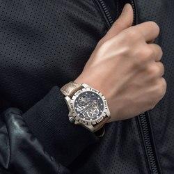 Caja de titanio 2020 relojes de lujo de marca superior para hombres reloj mecánico automático esqueleto reloj impermeable para hombre reloj Masculino