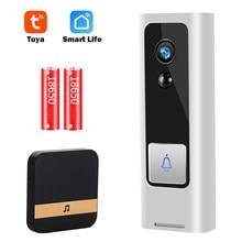 Wi fi câmera de vídeo campainha 1080p campainha da porta em casa câmera sem fio wi fi casa inteligente intercom mini campainha da porta vídeo tuya vida inteligente