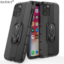 For iPhone 11 Pro Case For iPhone 11 Pro Protective Case Finger Ring TPU PC Armor Shell Hard Back Phone Case For iPhone 11 Pro fashionable contrast color pc tpu protective back case for iphone 5c black green