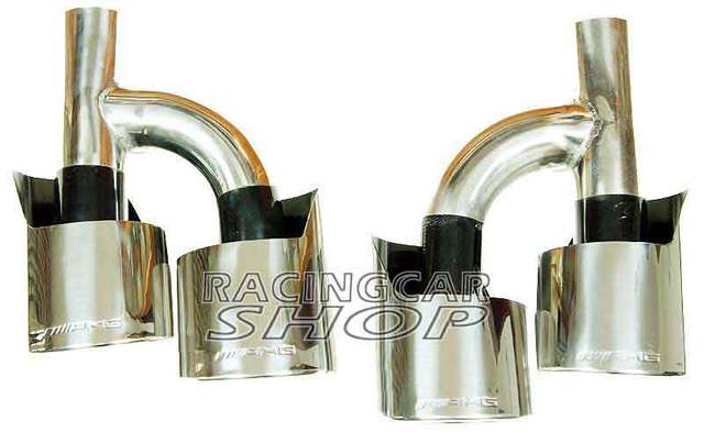 Exhaust tips for Mercedes Benz AMG S65 S63 C-class E-class S-class M-class W221 W212 W204 W219 W218 W208 W209 W164 R171 R1 M091W 4