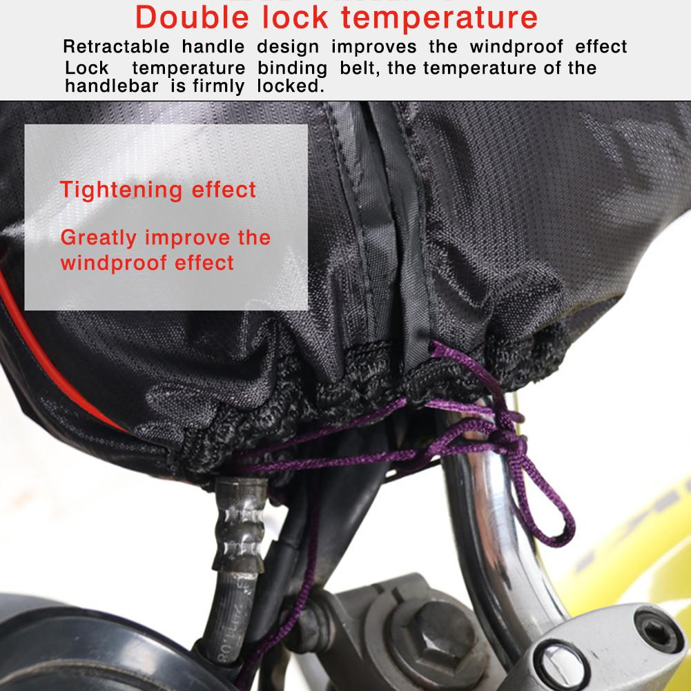 Motorrad Hand Lenker Handschuhe mit Reflektierende Streifen Handschuhe Winddicht Winter Verdicken Wärmer Motorrad/Roller Lenker Muffs