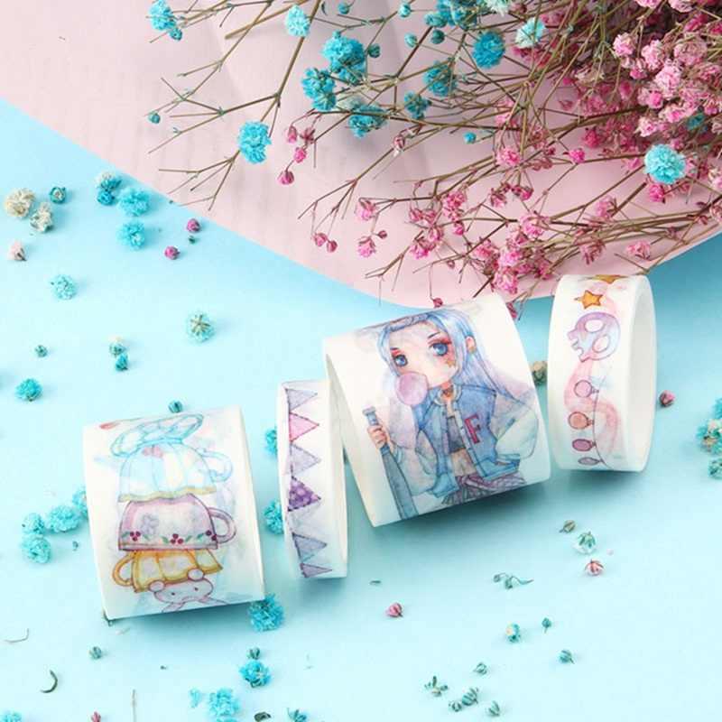 Sogno Blu Acqua Serie Carta Decorativa del Nastro di Washi Giapponese Set di Cancelleria Kawaii Scrapbooking Forniture Adesivi
