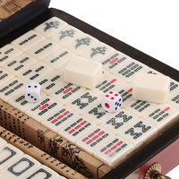 Chinese Antique Mahjong Board Game 144 Mahjong in 23x16.2x4.5cm Wooden Box