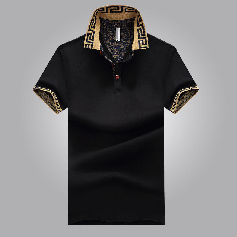 New Summer Short Sleeve Tshirt For Young Men In With Flipped Collar Tshirt   Polo   Shirt Men Button Down Collar Shirts Plain M-6XL