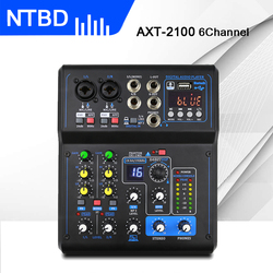 NTBD Professional Mini Karaoke Microphone Mixer 6 Channels 8 Channels USB Sound Card 16 DSP Sound Console Equipment DJ