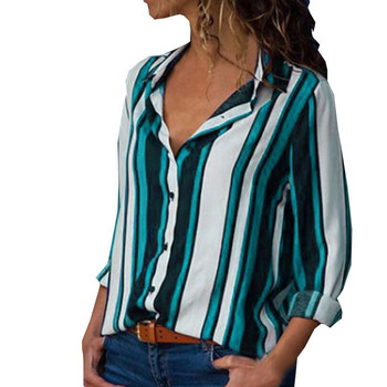 Fashion Striped Print Women Blouse Shirt Button Long Sleeve Top Spring Summer Ladies Casual Blouse Shirts Tops Plus Size S-5XL 4