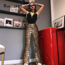 Baccarin леопардовые джинсы с высокой талией расклешенные брюки