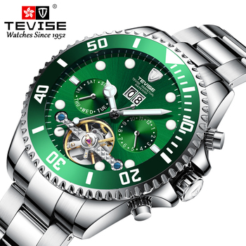 Men's Mechanical Watches TEVISE Luxury Brand Quality Wristwatch Multifunctional Luminous Waterproof Self Winding Automatic Watch