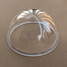 6.8 inch Clear Acrylic Plexiglass Dome Camera Lens Protection Cover Transparent 174x93mm