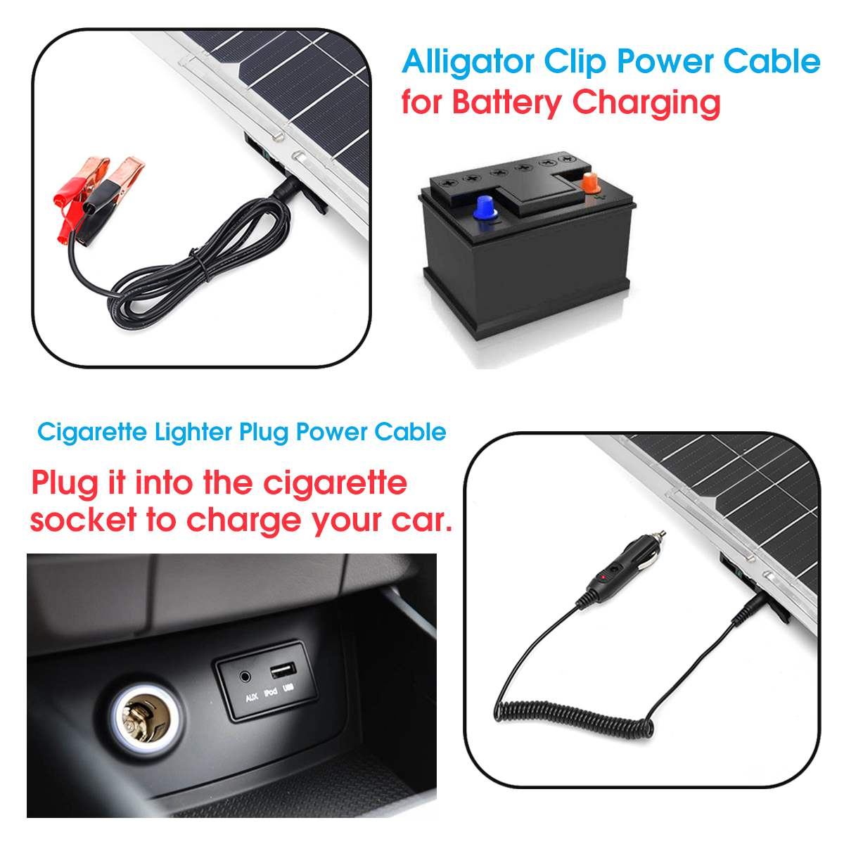 100W 18V Mono Solar Panel USB 12 V/5 V CC monocristalino Flexible Cargador Solar para coche RV barco cargador de batería impermeable - 5