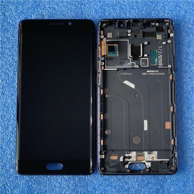 """5.7 """"oryginalna Amoled dla Xiaomi uwaga 2 Mi uwaga 2 Axisinternational ekran wyświetlacz LCD + Digitizer Panel dotykowy rama dla Mi Note 2"""