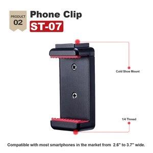 Image 3 - Ulanzi IRON MAN Aluminio Universal Del Teléfono Soporte Ajustable de Soporte de Clip Adaptador de Montaje de trípode para el iphone 7/7 Plus Android Smartphone