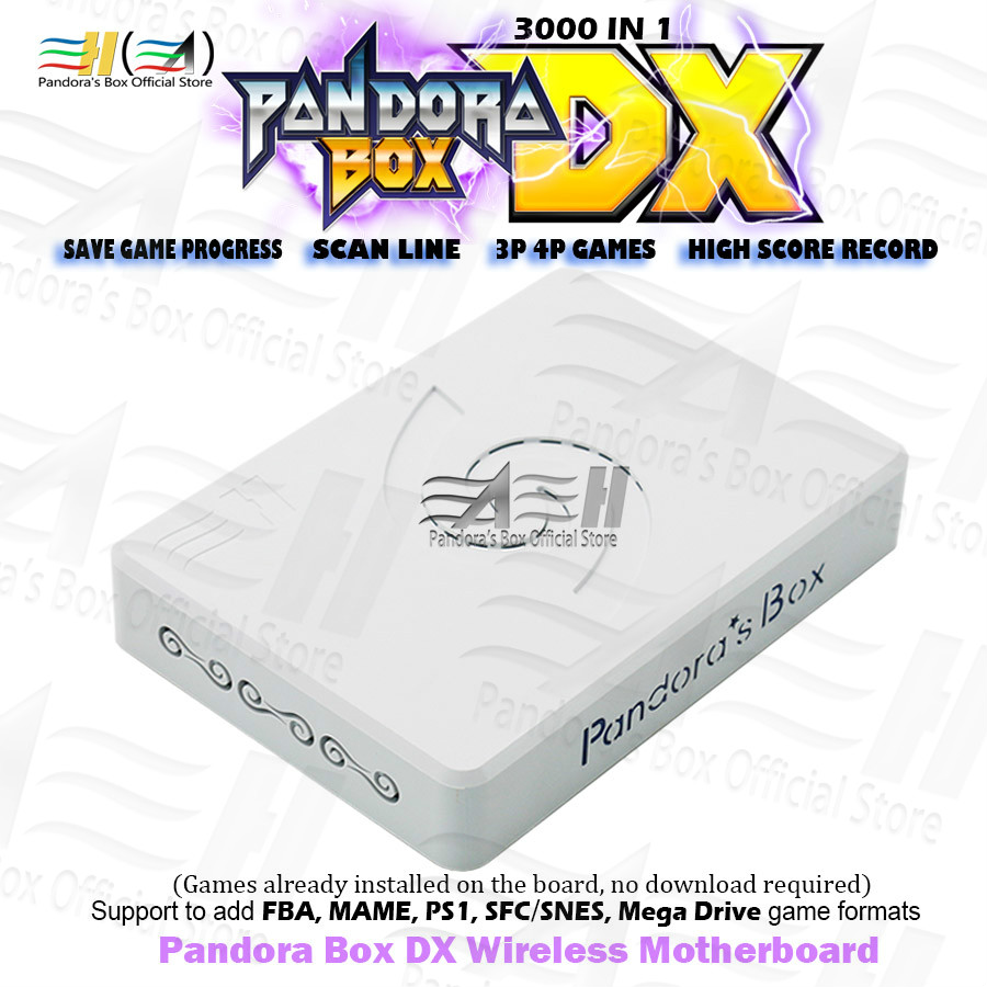 New Pandora Box DX 3000 In 1 Wireless Motherboard Support USB Gamepads Have 3P 4P Game Save Game Progress High Score Record 3D