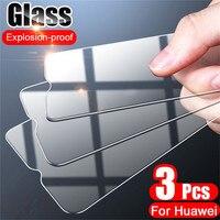 Protector de pantalla de vidrio templado para Huawei, Protector de pantalla de vidrio templado para Huawei P30, P20, P40, P10 Lite, P20 Pro, Honor 20 Lite 20 Pro, película de vidrio HD, 3 uds.
