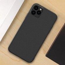 IPhone 11 Pro Max durumda NILLKIN sentetik elyaf karbon PP plastik koruyucu arka kapak iPhone için 11 iPhone 11 Pro kılıf