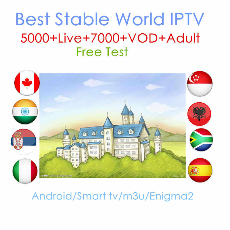 World IPTV 1 Year iptv subscription europe iptv portugal Spain France Italy USA dutch Iptv m3u for Smart TV Android Box X96 Mini