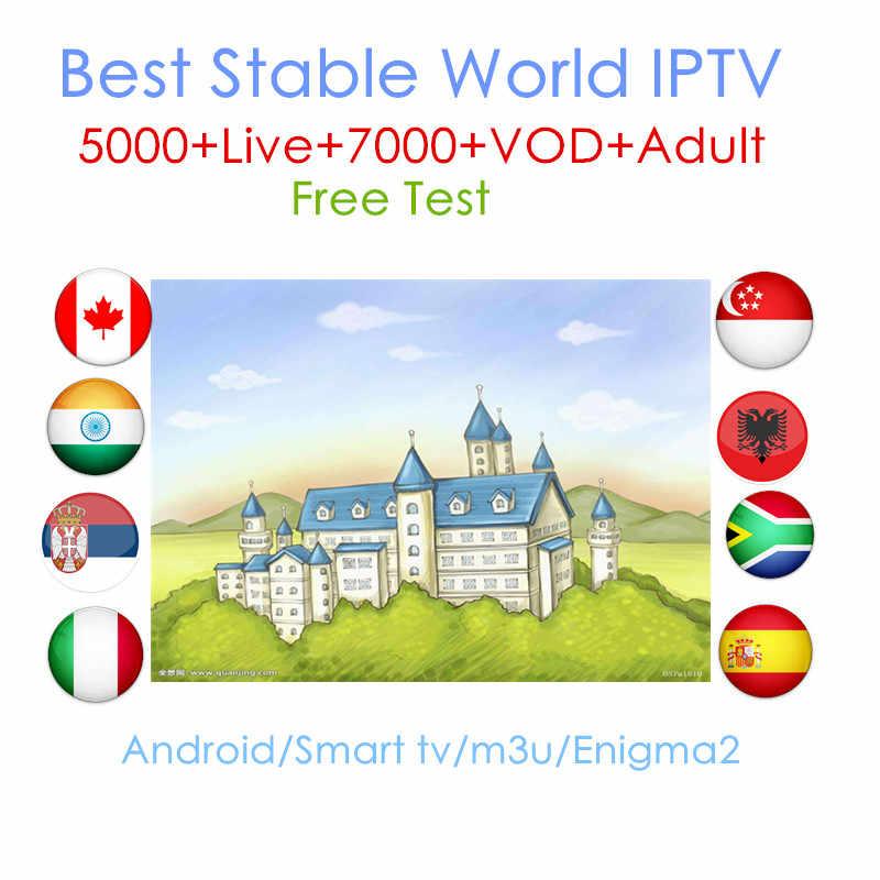 العالم IPTV 1 سنة iptv الاشتراك أوروبا iptv البرتغال اسبانيا فرنسا إيطاليا USA الهولندية Iptv m3u ل الذكية التلفزيون صندوق أندرويد x96 البسيطة