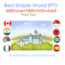 Monde IPTV 1 an iptv abonnement europe iptv portugal espagne France italie USA néerlandais Iptv m3u pour Smart TV Android Box X96 Mini(China)