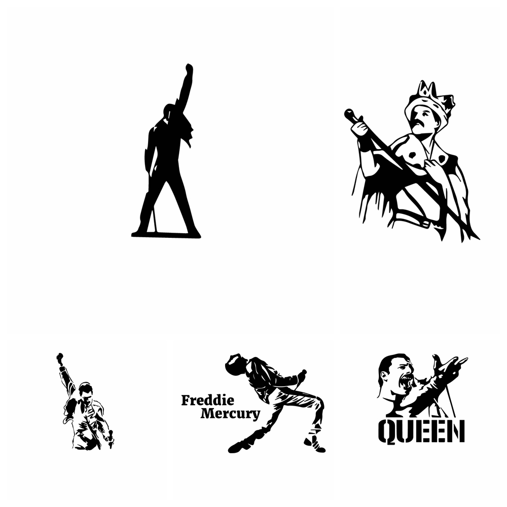Fashion Freddie Mercury queen band Car Sticker And Decal Wrap Vinyl Auto Stickers Oil Tank Cover Car-Styling Custom Accessories