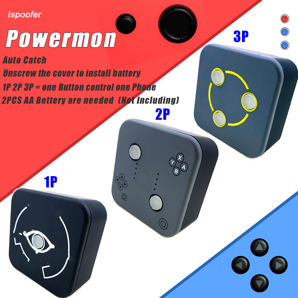 Powermon 1P 2P 3P For Powermon GO Plus Bluetooth Interactive Figure Toys IOS Android Auto Catch Removable Battery