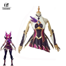 ROLECOS 2019 Star Guardian Xayah Cosplay Costume Game LOL The Rebel Sexy Shoes Cover Women Dress Halloween