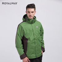 ROYALWAY Winter Camping Hiking Windbreaker High quality Removable Fleece Liner 2 Pieces for Men Outdoor Travel ROM5347D