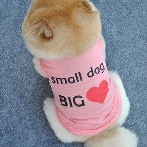Одежда для собак, жилет для собак, кошек, футболки, костюм для домашних животных, хлопковая одежда для маленьких собак, чихуахуа, крутая одеж...