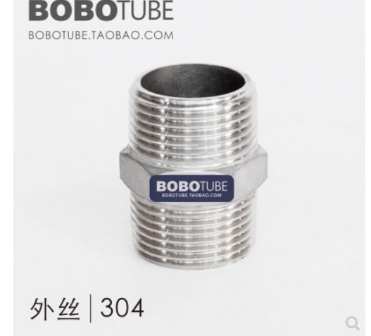 Male To Male Hex Nipple Threaded Reducer Pipe Fitting Stainless Steel 304 DN6 DN8 DN10 1/8'' 1/4'' 3/4'' 1''