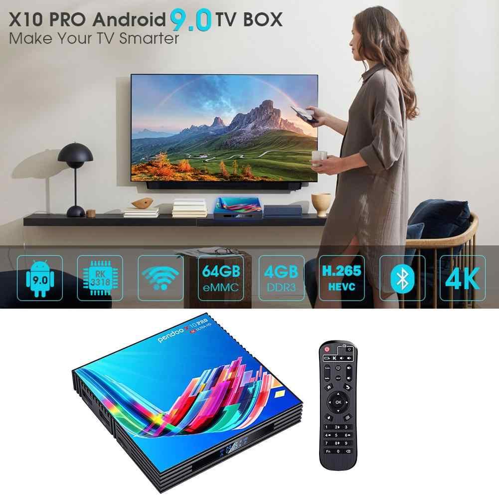Baru RK3318 9.0 Android TV Box 4GB RAM 64GB 32GB 4K 2.4G/5G akses Internet Nirkabel USB3.0 Google Netflix Youtube Media Player Set Top Box # N