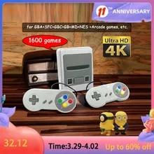 Video-Game-Console Gamepad Joystick Arcade Sega 64-Bit Mini Super-Nintendo 4K for Hd-Out