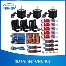 3d принтер с ЧПУ комплект, для Arduino GRBL Shield+ UNO R3 плата+ RAMPS 1,4 Механический выключатель фиксатор+ DRV8825 драйвер двигателя+ Nema 17 мотор