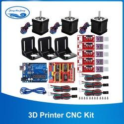 3D Printer CNC Kit, voor Arduino GRBL Shield  UNO R3 Board  RAMPS 1.4 Mechanische Schakelaar Endstop  DRV8825 Motor Driver  Nema 17 motor