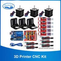 Zestaw cnc drukarki 3D, dla Arduino GRBL tarcza + płyta UNO R3 + rampy 1.4 przełącznik mechaniczny Endstop + DRV8825 sterownik silnika + silnik Nema 17