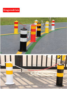 Facilities-Supply Traffic Road-Column Reflective Movable Safety Parking-Lot Warning Steel