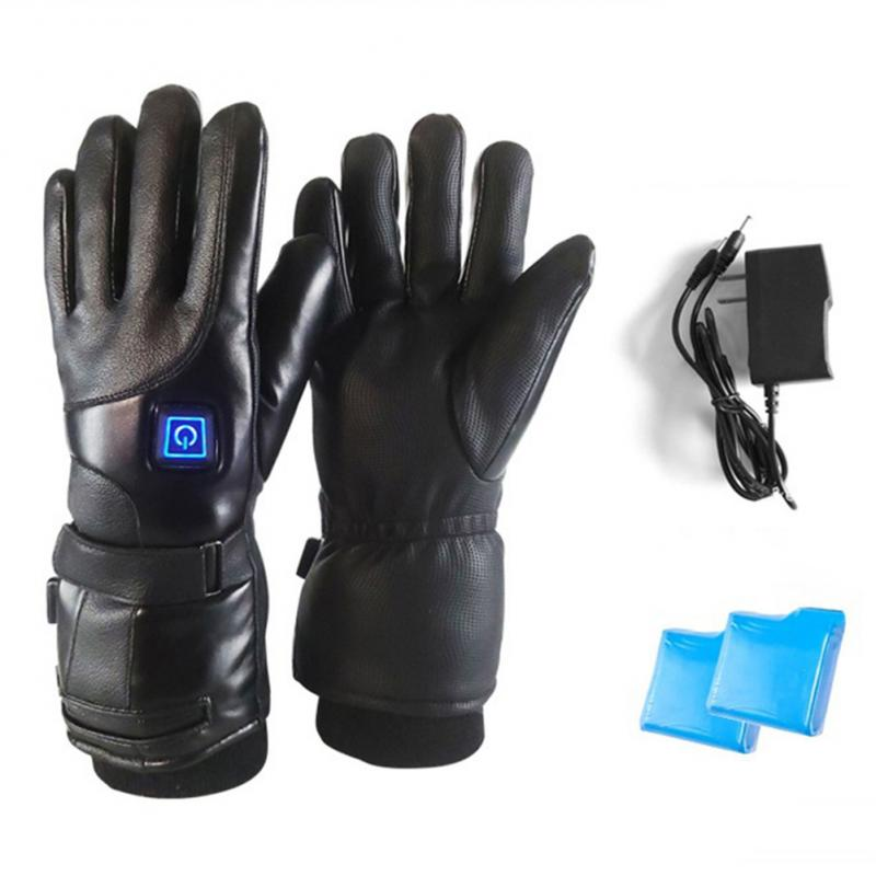 Men Women Ski Glove Adjust 3 Temperature Rechargeable Electric Warm Battery Powered Heat Gloves Winter For Climbing