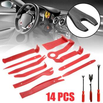 New 14pcs Car Audio Maintenance Kit Auto Trim Repair Panel Remover Pry Bar Car Dash Radio Door Trim Panel Clip Hand Tools Set