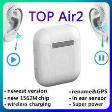 Topo air2 tws 1:1 gps renomear 2nd tws fones de ouvido sem fio bluetooth ar 2 tws i90000 pro android pk i90000 tws fones de ouvido
