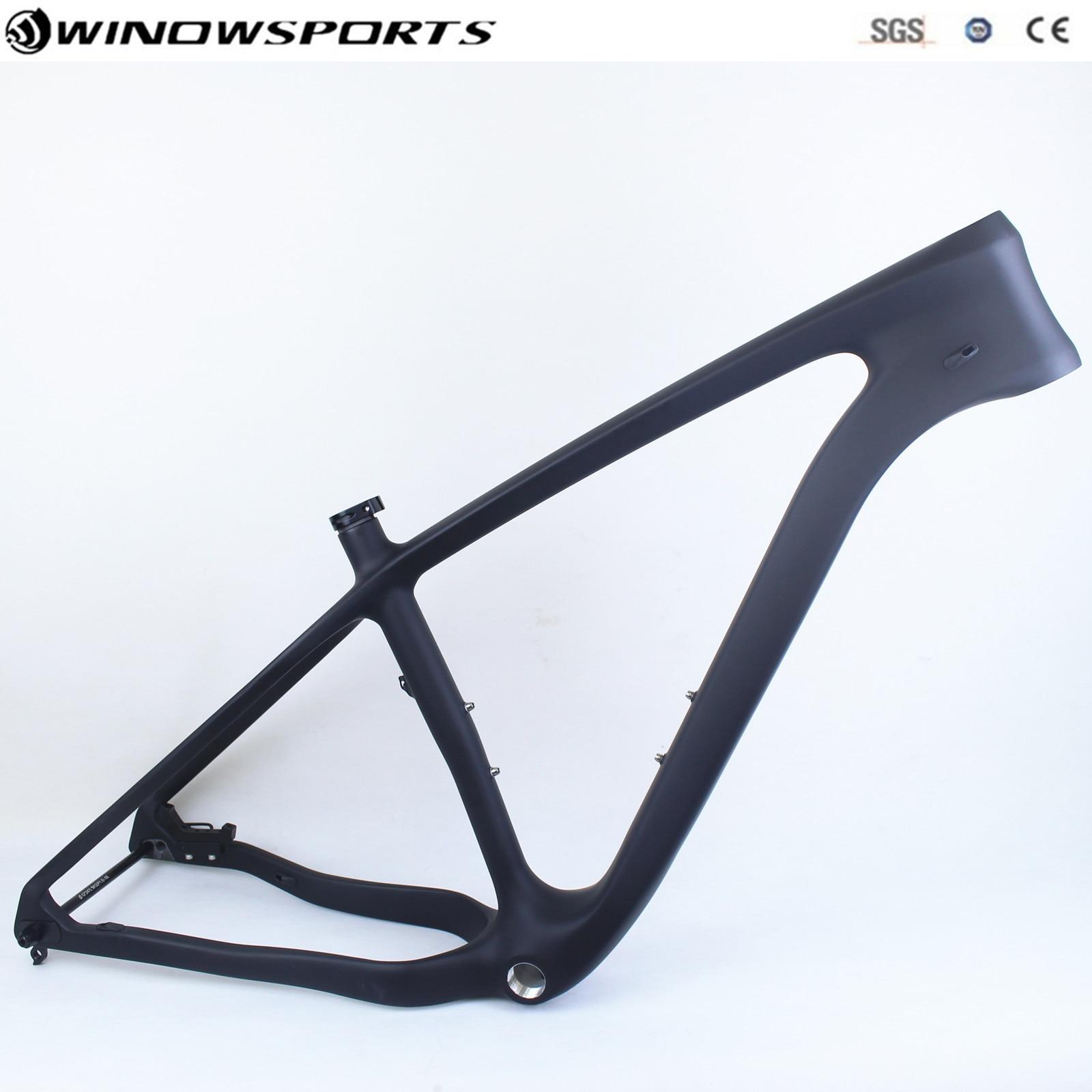 Carbon Fat Bike Frames 26er 15.5/17.5/19.5/21 Carbon Mtb Frame 26'' BSA Snow Bike Bicycle Frameset Support Tires 26er 4.8/5.0