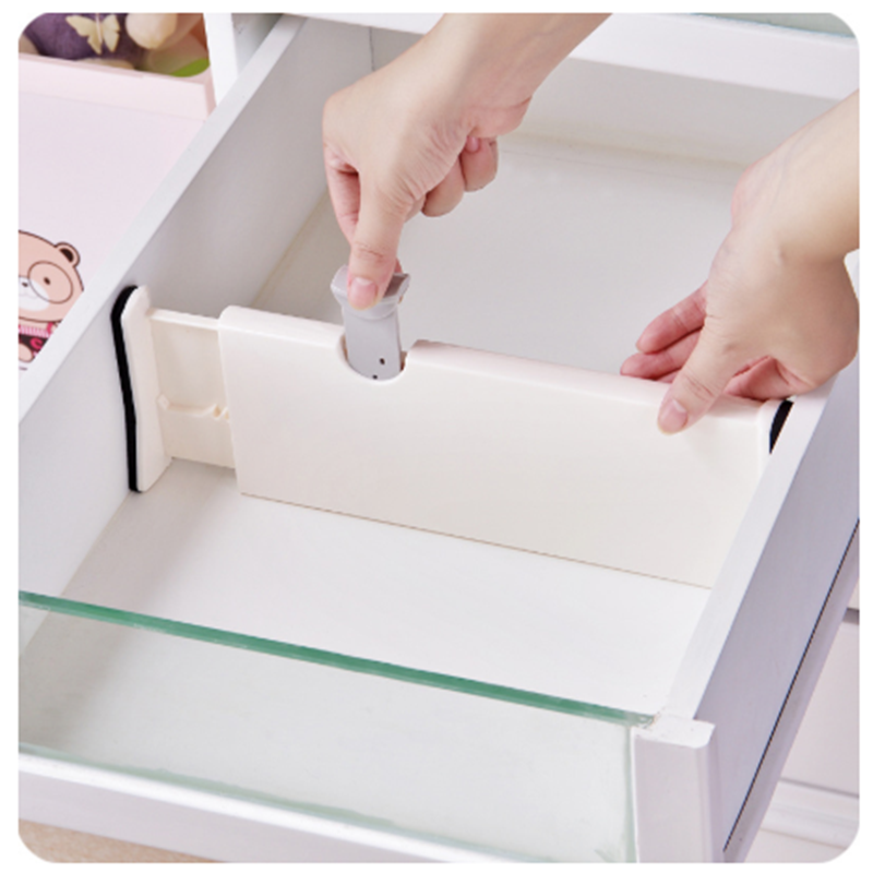 Plastic DIY Grid Drawer Adjustable Separator Household Bedroom Kitchen Storage Organizer Dividers Board Space-saving Tools
