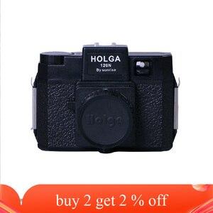Clássico holga 120 câmera de filme colorido 120n câmera de formato médio lomography lomo kodak fujifilm rosa azul