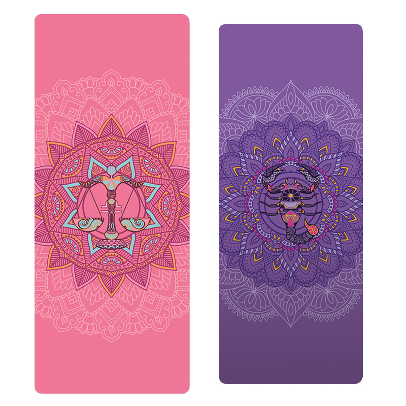 2019 New PVC Beautifully Constellation Printed Yoga Mat 6MM Beginner Non-slip Fitness Mat For Gym Home Travel Pad