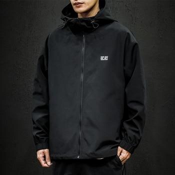 YOYOO new autumn men clothing men's jacket print casual loose hooded jacket coat men jacket coats man windbreaker men camo print hooded jacket
