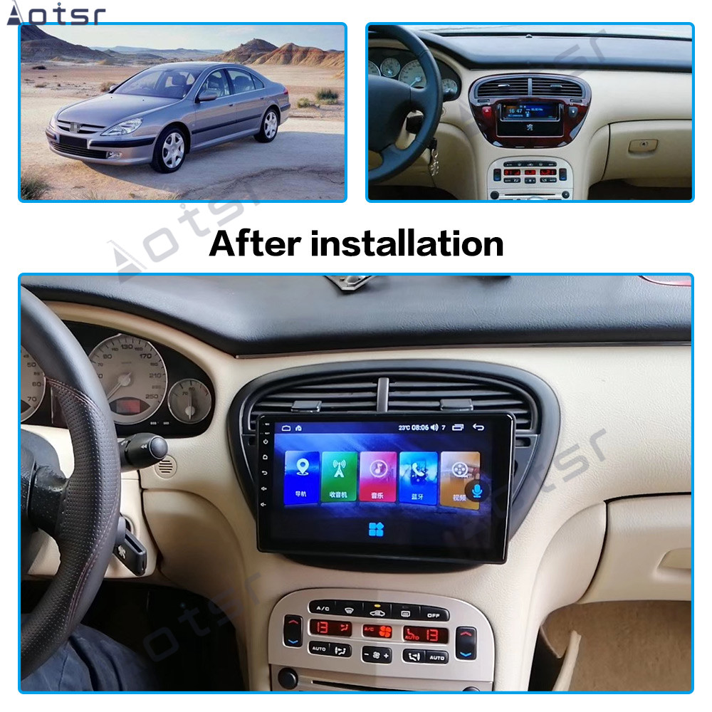 Android8 Car dvd player GPS Navigation for <font><b>Peugeot</b></font> <font><b>607</b></font> 2002-2008 4G navigati Bluetooth Touch Screen Headunit Headunit stereo image